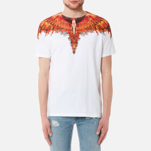 Marcelo Burlon Men's Flame Wing T-Shirt - White Multicolor