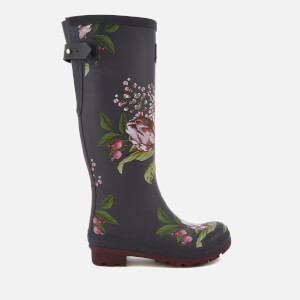 Joules Women's Welly Print Adjustable Tall Wellies - Navy Artichoke Floral