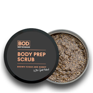 BOD Body Prep Scrub - Brown Sugar and Honey with Gold Flakes