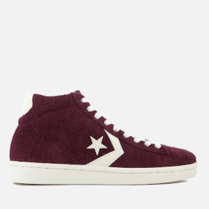 Converse Men's Pro Leather '76 Mid Trainers - Dark Sangria/Egret/Egret