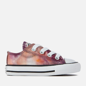 Converse Toddlers' Chuck Taylor All Star Metallic Ox Trainers - Dusk Pink/White/Black