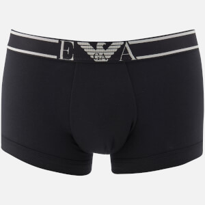 Emporio Armani Men's Soft Cotton Trunks - Nero