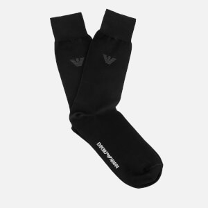 Emporio Armani Men's Filoscozia Cotton Socks - Nero