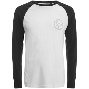 Brave Soul Men's Vermont Raglan Long Sleeve Top - White/Black