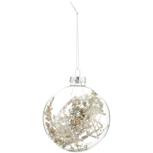 Bark & Blossom Clear FrozenTwig Bauble