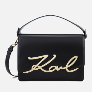 Karl Lagerfeld Women's Signature Big Shoulder Bag - Black