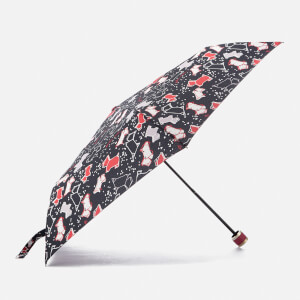 Radley Women's Speckle Dog Mini Telescopic Umbrella - Ink