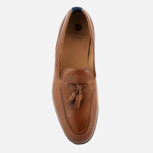 Hudson London Men's Dickson Leather Tassel Loafers - Tan: Image 3