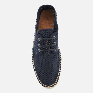 Hudson London Men's Benson Mesh Espadrilles - Navy: Image 3