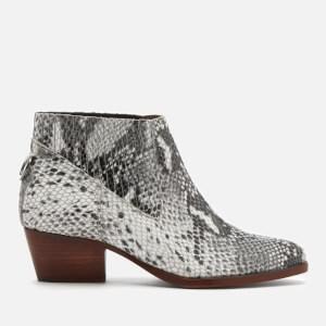 Hudson London Women's Ernest Snake Ankle Boots - Grey