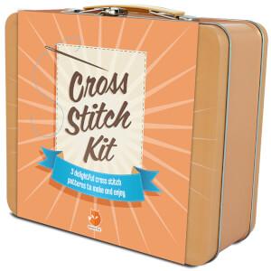 Smart Fox Cross Stitch Tin: Image 1