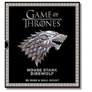 Game of Thrones Haus Stark Schattenwolf 3D Maske