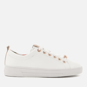 Ted Baker Women's Kellei Leather Cupsole Trainers - White
