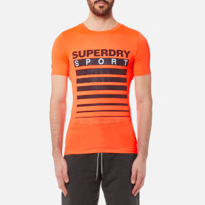 Superdry Sport Men's Athletic Tech T-Shirt - Fluro Orange