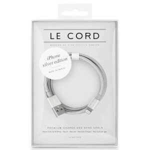 Le Cord Solid Silver Lightning Cable (2m)