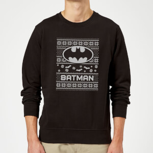 DC Comics Originals Batman Knit Black Christmas Sweater