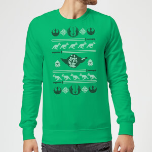 Star Wars Yoda Face Knit Green Christmas Sweater