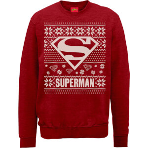 Felpa DC Superman Christmas Knit Logo Red Christmas