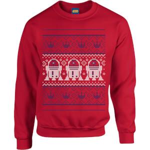 Star Wars R2D2 Christmas Knit Red Christmas Sweatshirt