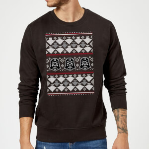 be1cb9845e7941 Star Wars Christmas Darth Vader Imperial Starship Knit Black Christmas  Sweatshirt
