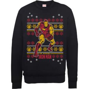 Marvel Comics The Invincible Ironman Black Christmas Sweatshirt