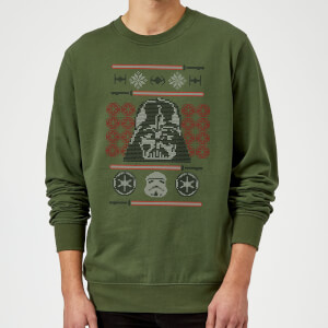 Star Wars Darth Vader Face Knit Green Christmas Sweater
