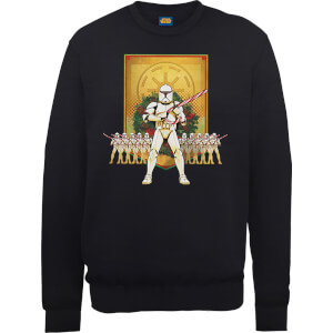Star Wars Candy Cane Stormtroopers Black Christmas Sweatshirt