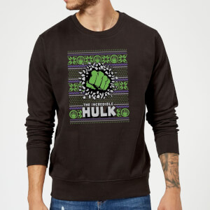 Marvel Comics The Incredible Hulk Black Christmas Sweatshirt