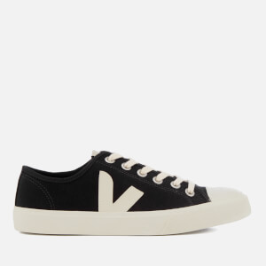 Veja Men's Wata Canvas Trainers - Black/White