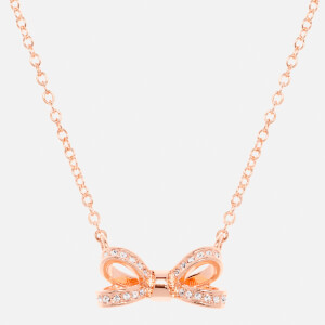 Ted Baker Women's Olessi Mini Opulent Pavé Bow Pendant - Rose Gold/Crystal