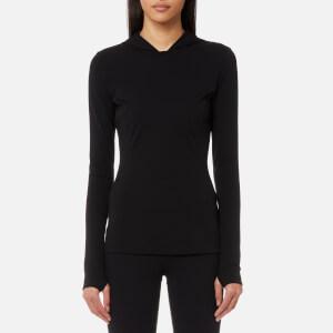 NO KA'OI Women's Olu Olu Long Sleeve Hooded T-Shirt - Black