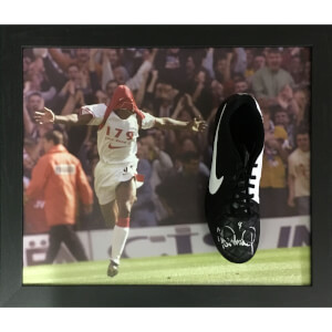 Ian Wright Signed Boot in Domed Frame