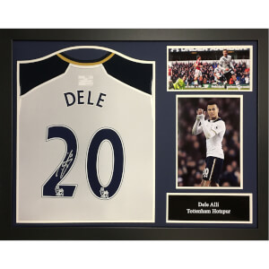 Dele Alli Signed and Framed Tottenham Hotspurs Shirt