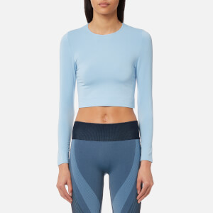 Varley Women's Vermont Long Sleeve Cropped Top - Powder Blue