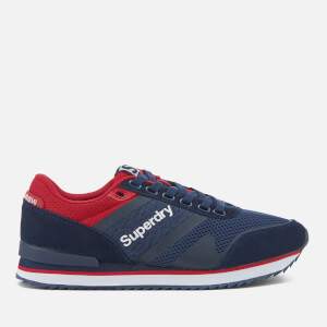 Superdry Men's Fero Runner Trainers - Navy/Red