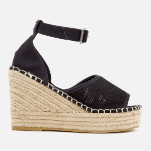 Superdry Women's Anna Wedge Espadrilles - Black