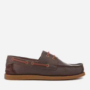 Superdry Men's Leather Deck Shoes - Dark Brown