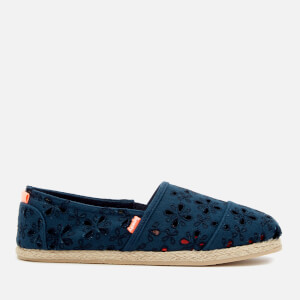 Superdry Women's Jetstream Espadrilles - Dark Navy Broderie