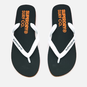 Superdry Men's Superdry Sleek Flip Flops - Black/Optic White