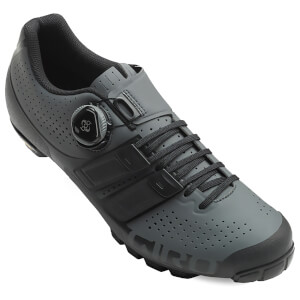 Giro Techlace MTB Cycling Shoes - Dark Shadow/Black