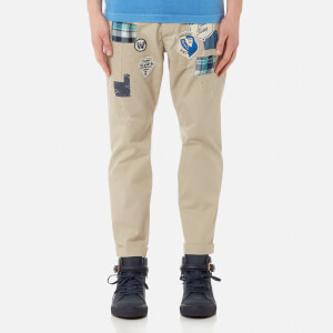 Dsquared2 Men's Hockney Fit Chinos with Patches - Stone