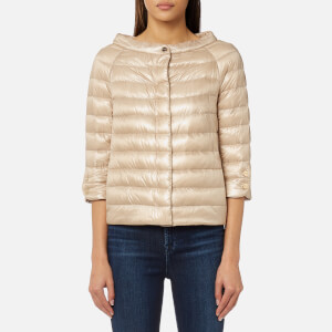 Herno Women's Cape Woven Jacket with 3/4 Sleeves - Pink