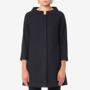 Herno Women's Long Woven Coat - Navy