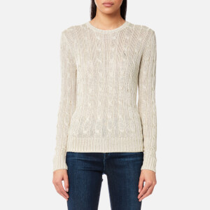 Polo Ralph Lauren Women's Julianna Gold Jumper - Metallic Taupe