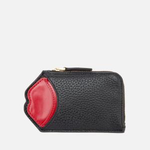 Lulu Guinness Women's Liliana Pop Up Lip Wallet - Black/Red