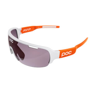 POC DO Half Blade Clarity Sunglasses - Hydrogen White/Zink Orange