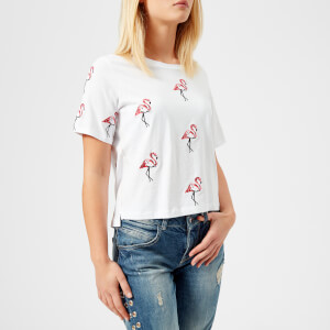 Guess Women's Flamingos T-Shirt - True White