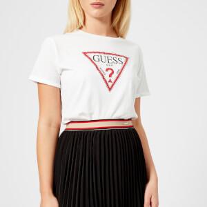 Guess Women's Triangle Guess Logo T-Shirt - True White
