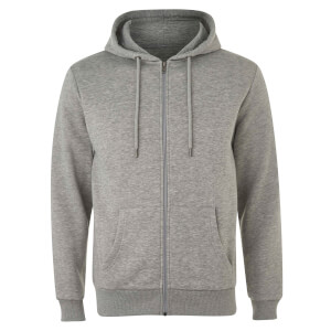 Native Shore Men's Essential Zip Through Hoody - Light Grey Marl