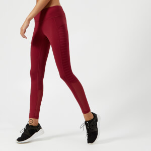 Reebok Women's Mesh Tights - Urban Maroon
